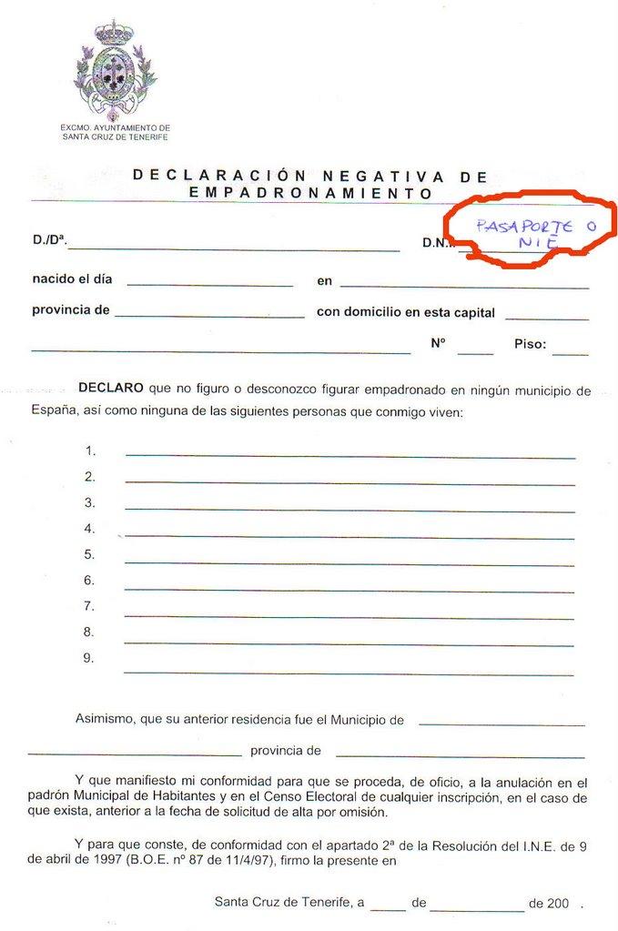 Inmigraci n una oportunidad como empadronarse en el for Oficinas de correos en santa cruz de tenerife