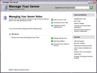 Disabling the Manage Your Server page on Windows Server 2003