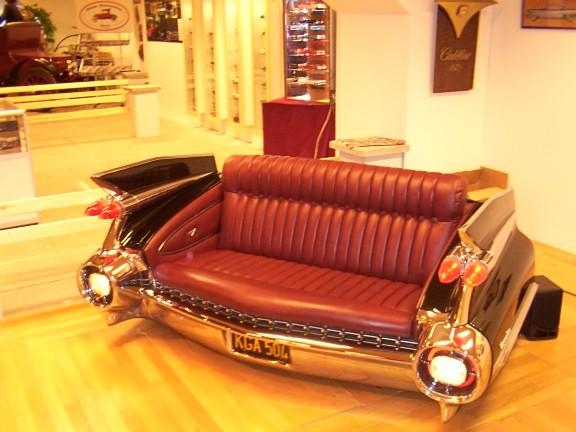 Funny and stupid ideas classic car seat sofa Custom furniture made car parts