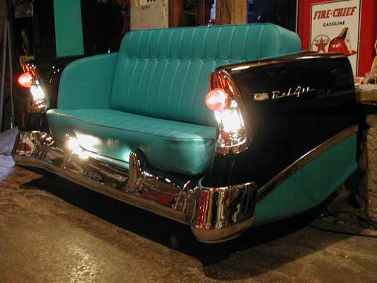 Basically, This Unique Sofa Was Made From Back Part Of A Car Where A Sofa  Was Placed In Car Boot. You Might Get One Or Do It Yourself From Your Old  Car :)
