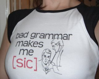 bad grammar, hot t-shirt(onemorehandbag)