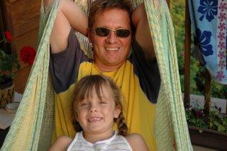 Nicole & Daddy in the hammock