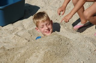 Will gets buried in the sand