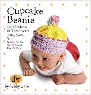 Cupcake Beanie Kit by Debby Ware, cover photo
