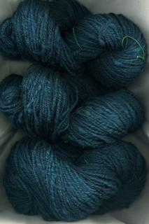 My handspun wool, dark teal