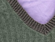 recycled sweater: grey V-neck