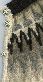 recycled sweater: Icelandic cardigan