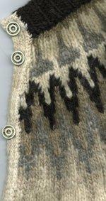 recycled sweater: Icelandic cardigan