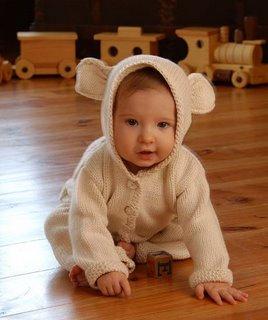 lamb's ear baby jacket