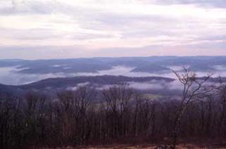 Locust Creek in the mist--a veiw from Droop Mountain