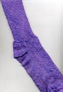 Cotton sock dyed purple