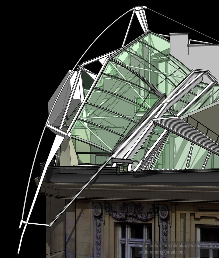 Viz arch architectural visualization sketchup for Dream roof