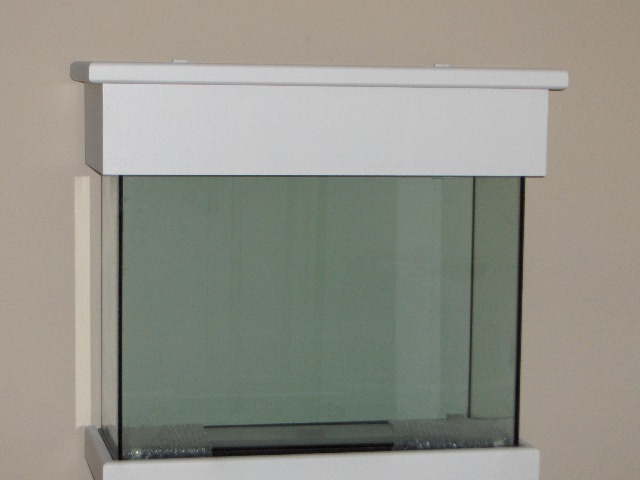 Kc aquarium stand canopy 29 gallon white finished for 29 gallon fish tank stand