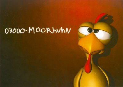 Moorhuhn Plakat Anzeige Edgar Karte 0700