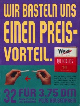 West Quickies Anzeige und Plakat Wir basteln uns einen Preisvorteil!