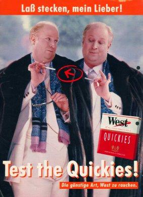 Test the Quickies! Lass stecken! Anzeige und Plakat