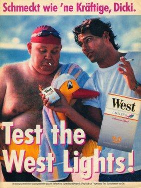 Test the West Lights! Anzeige und Plakat Dickie