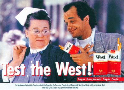 Test the West! Anzeige und Plakat Nurse