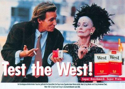 Test the West! Anzeige und Plakat Grandma