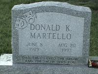 Here lies Donald Martello...and why not?
