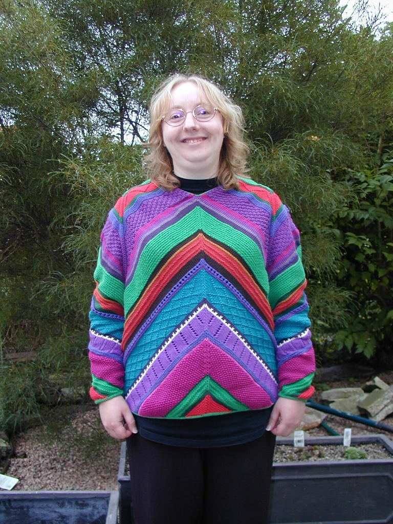Multi-coloured cotton jumper