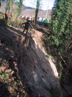 2-12-2005, Matteo sul bordo della Frana
