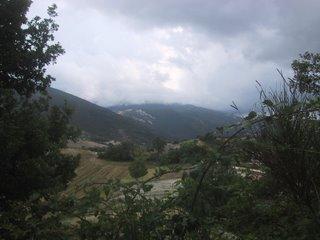 Strada tra Urbino ed Acqualagna. Settembre 2006