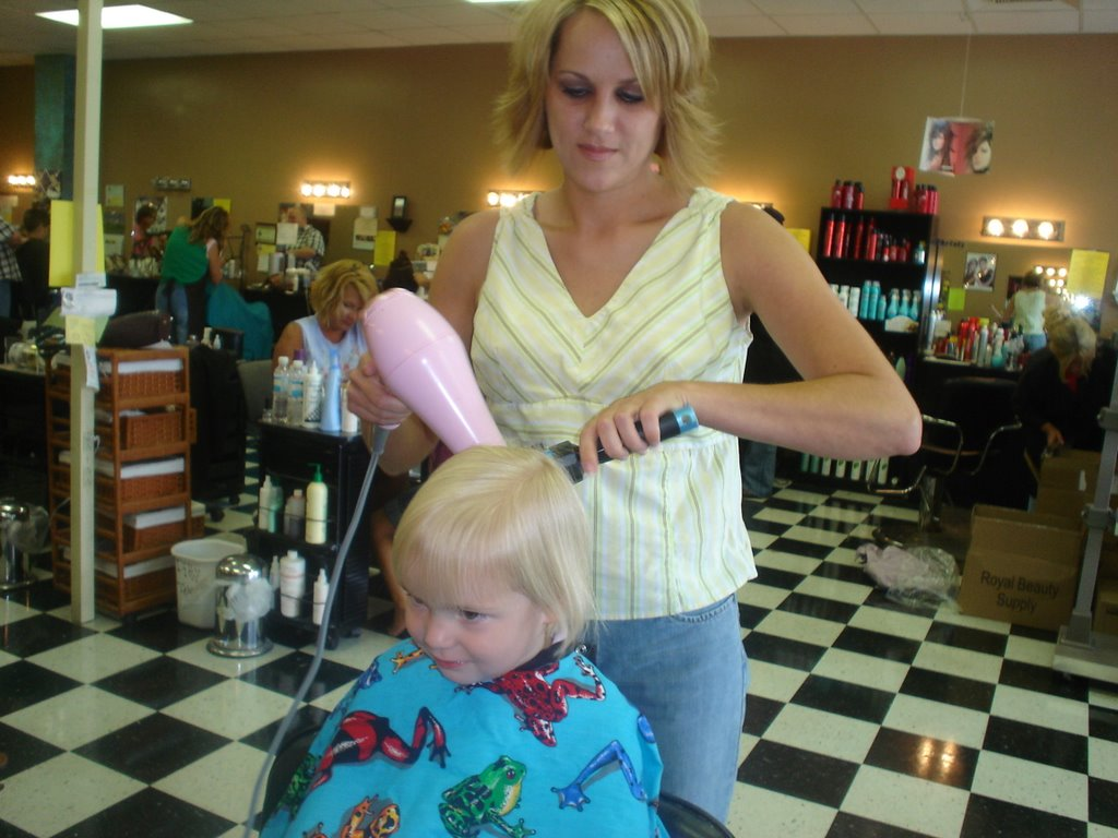 Blonde Babies Sydneys First Hair Cut