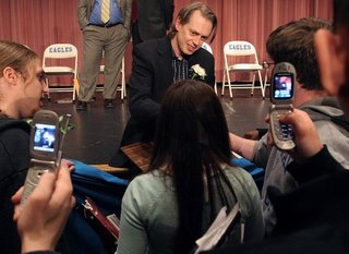 Steve Buscemi with students