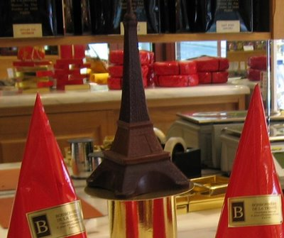 This tour de chocolat is the closest I'm ever getting to the Eiffel Tower again