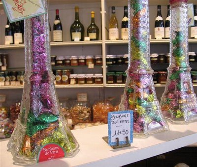 I saw these bonbon-filled towers in La Mere du Famille's candy shop
