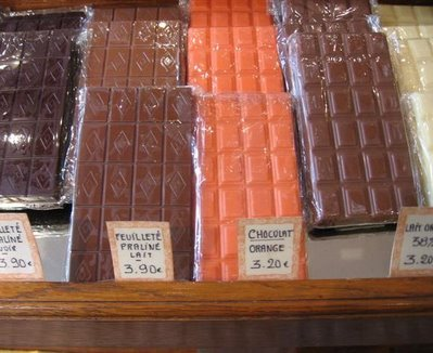 French chocolate bars