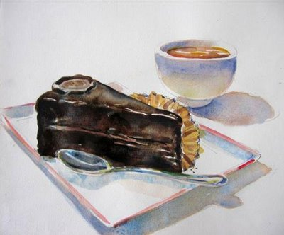 Chocolate is not so easy to paint...