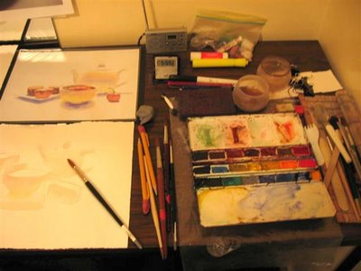 My Paris worktable...