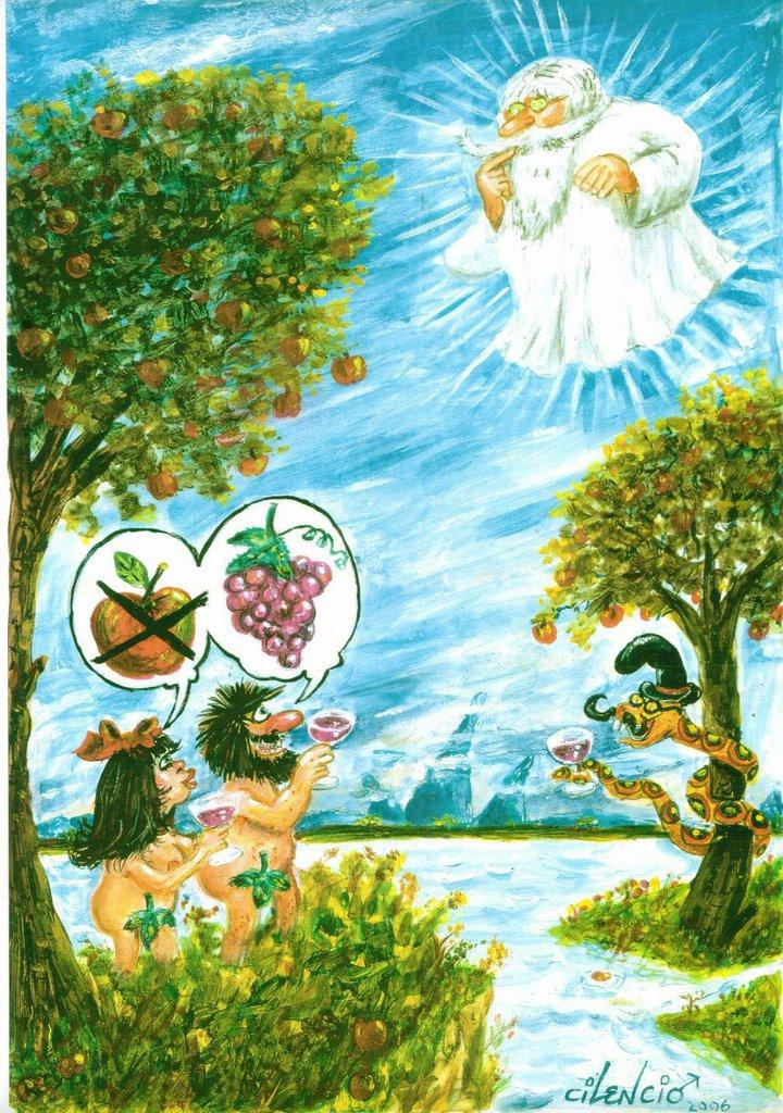 Cilencio no se calla mayo 2006 for Adan y eva en el jardin