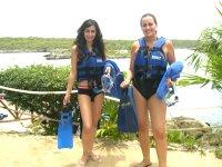 Snorkling Sonybabe y Silvia