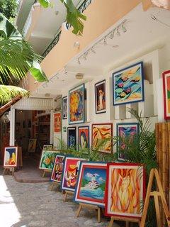 5º Avenida en Playa del Carmen. Pintura New Maya
