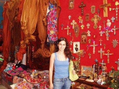 Sonybabe en tienda mística de Playa del Carmen, Riviera Maya