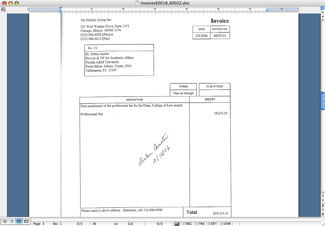 Xero Api Invoice Excel Rattler Nation July  Us Tax Receipts with Forwarder Certificate Of Receipt Confident Hollins Group Sends Contract And Invoice At The Same Time This  Is One Of The Five Invoices All Have What Appears To Be Debra Austins  Signature  Invoice Template Word Doc Word