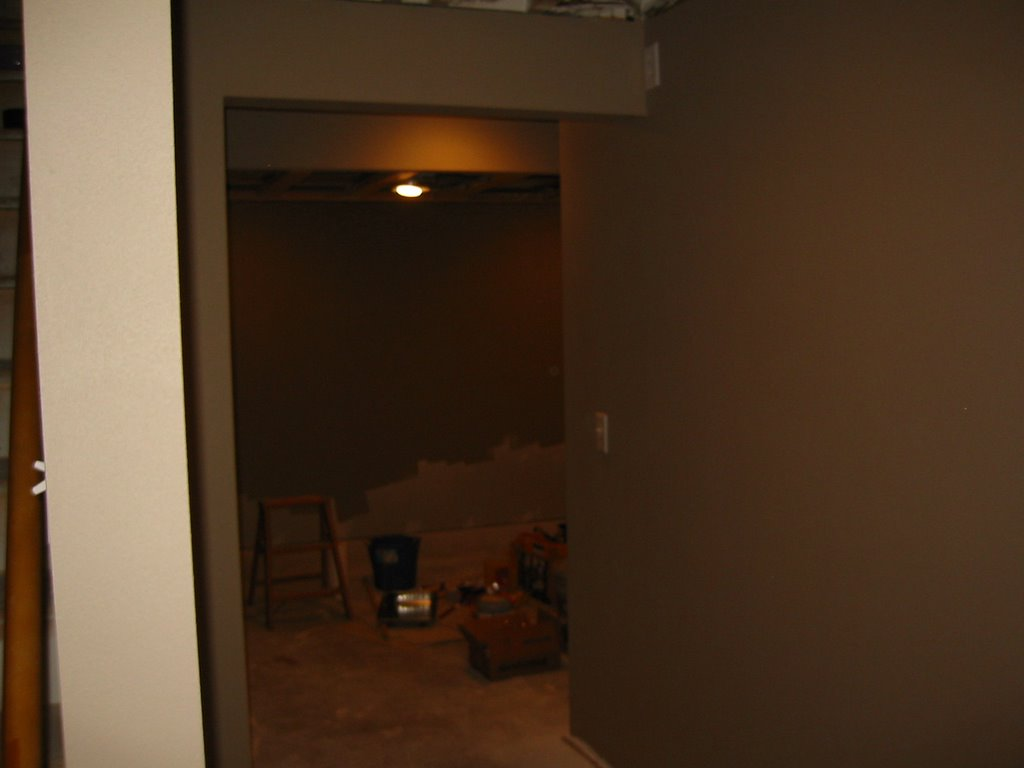 my basement finishing project painting complete