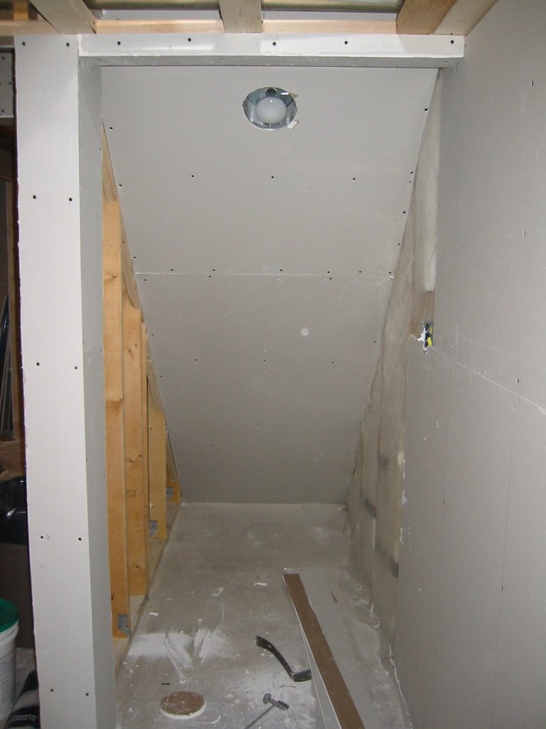my basement finishing project drywall installation day 3