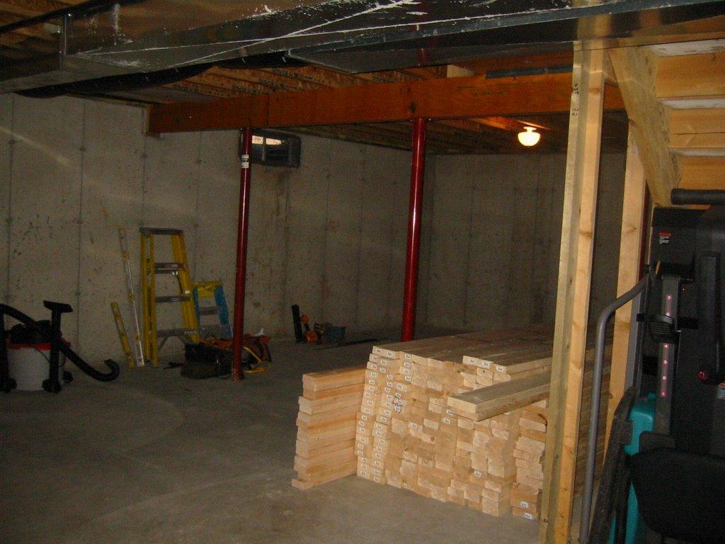 my basement finishing project framing begins saturday
