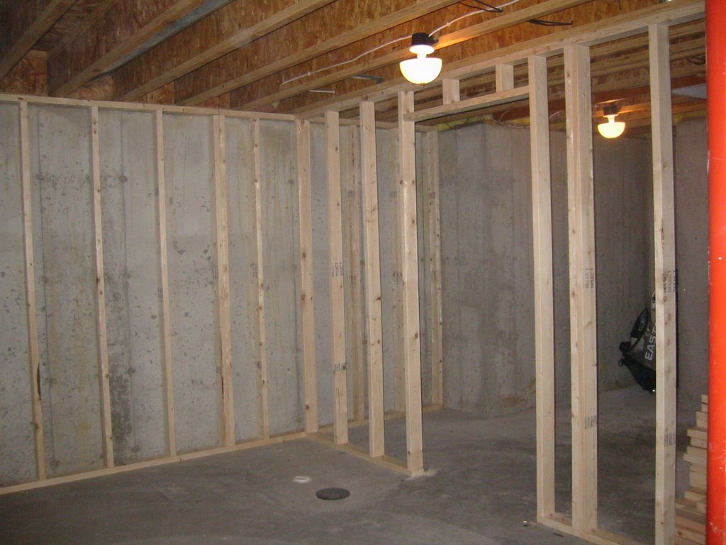 my basement finishing project framing day 1