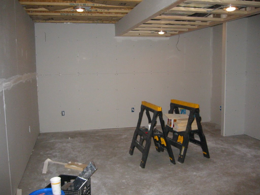 my basement finishing project drywall installation day 2