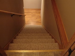 the guys from home depot installed the carpet for the stairs and