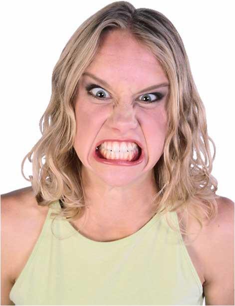 Image of angry woman