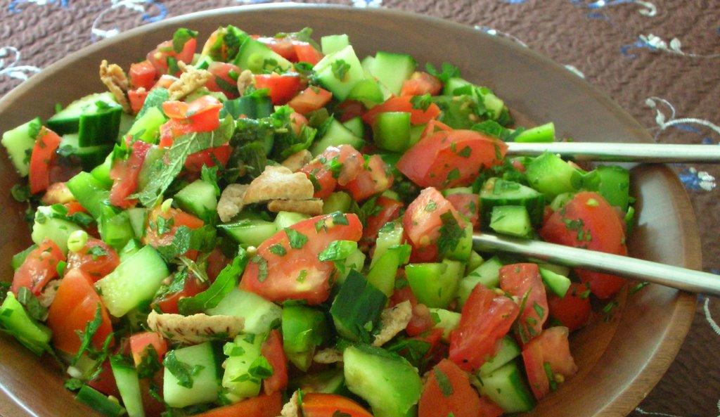 Fattoush: Lebanese Veggie Salad ♥ | A Veggie Venture: Fattoush ...