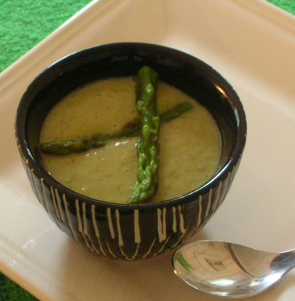 soup combination that when I happened onto an asparagus - orange soup ...