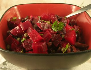 Beet Salad with Lemon & Olives
