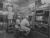 Laboratório militar americano nos anos 50.